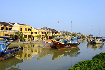 Hoi An River, Hoi An, Vietnam, Indochina, Southeast Asia, Asia