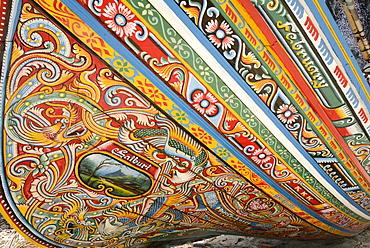 Painted fishing boat, Ko Samui, Southern Thailand, Southeast Asia, Asia