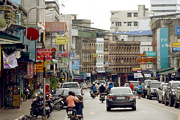 A street in Trang, Thailand, Southeast Asia, Asia