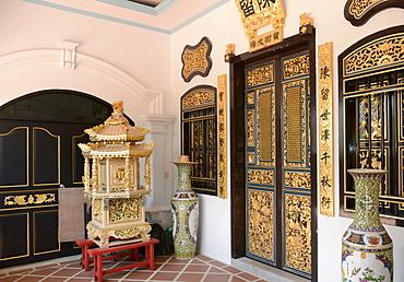 San Tham Shrine, one of the oldest Chinese temples in Phuket, Thailand, Southeast Asia, Asia