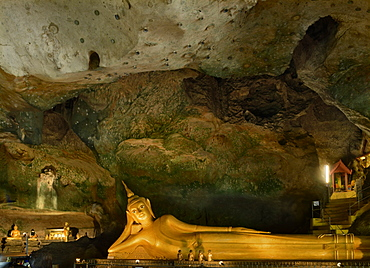Wat Suwannakuha, a cave temple in Phang Nga, a popular excursion from Phuket, Thailand, Southeast Asia, Asia