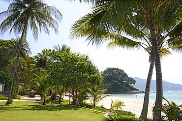 The beach at The Surin Hotel, Phuket, Thailand, Southeast Asia, Asia