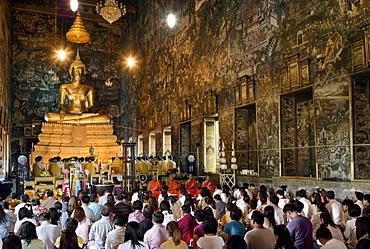 Ubosoth of Wat Suthat, Bangkok, Thailand, Southeast Asia, Asia