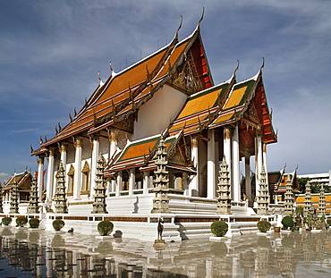 Wat Suthat dating from the first half of the 19th century, Bangkok, Thailand, Southeast Asia, Asia