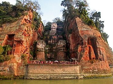 Leshan Grand Buddha (Giant Buddha), UNESCO World Heritage Site, Leshan, Lingyun Shan Mountain, Sichuan, China, Asia