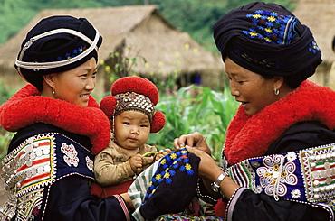 Yao hill tribe, Chiang Rai, Thailand, Southeast Asia, Asia