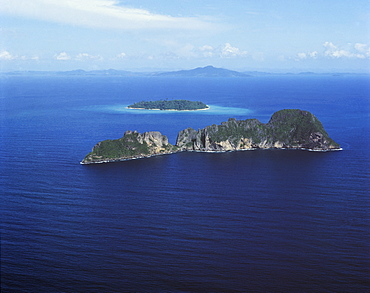 Aerial view, Phangnga Bay, Thailand, Southeast Asia, Asia