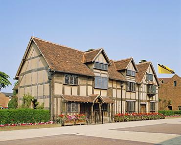 William Shakespeare's birthplace, Stratford-upon-Avon, Warwickshire, England, UK, Europe