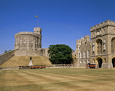 Upper Quadrangle, Windsor Castle, Berkshire, England, United Kingdom, Europe