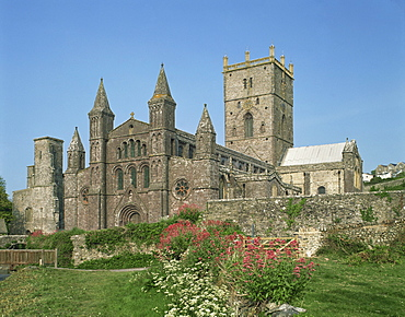 St. David's Cathedral, Pembrokeshire, Wales, United Kingdom, Europe
