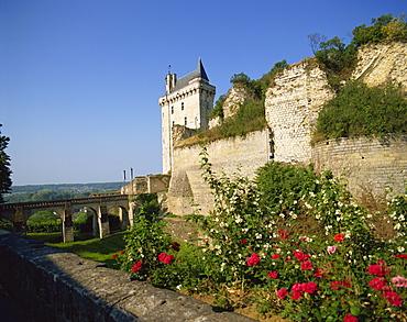 Chateau de Chinon, Indre-et-Loire, Loire Valley, France, Europe