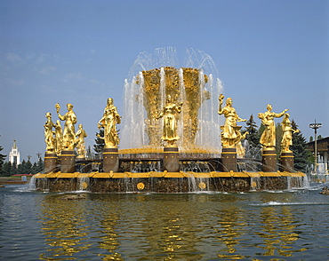 Fountains at Exhibition of Economic Achievements of USSR, Moscow, Russia, Europe
