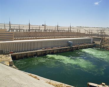 Aswan Dam, Aswan, Egypt, North Africa, Africa