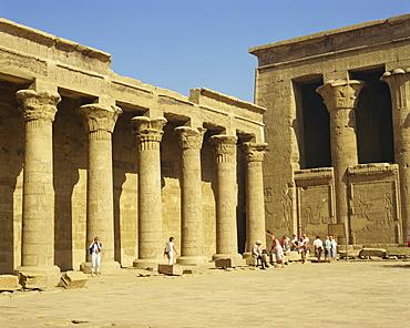 Temple of Horus, Edfu, Egypt, North Africa, Africa