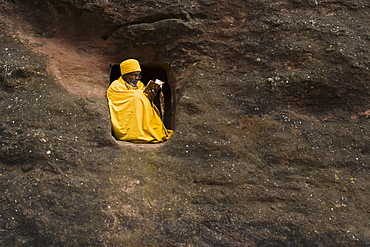 Bet Medhane Alem (Saviour of the World), Lalibela, Ethiopia, AfricaLalibelas rock-hewn churches are arguably Ethiopias top attraction, Bet Medhane Alem (Saviour of the World) is the largest rock-hewn church in the world, religious Hermits inhabit caves to this day, Known as Africas Petra
