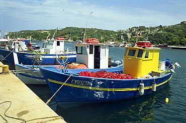 Fishing boats in port at Santa Teresa di Gallura on the island of Sardinia, Italy, Mediterranean, Europe