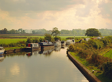 Knowle Locks, Autumn, The Grand Union Canal, West Midlands, England