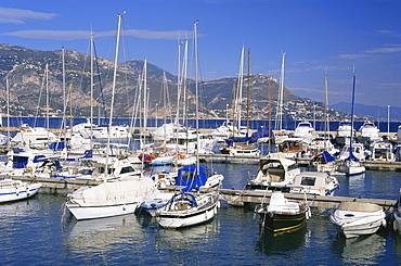 Harbour, St. Jean-Cap-Ferrat, Cap Ferrat, near Nice, Alpes Maritimes, Provence, Cote d'Azur, French Riviera, France, Mediterranean, Europe