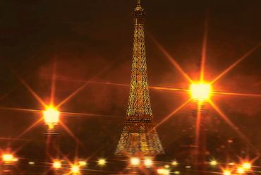 Eiffel Tower from Place de la Concorde, Paris, France