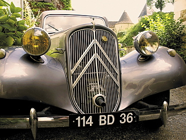 Citroen 4CV, Gargillesse village, Creuse, Loire Valley, France, Europe