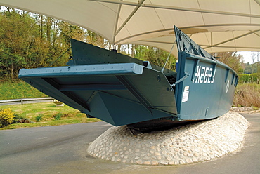 D-Day landing craft, Omaha Beach Museum, Normandy, France, Europe