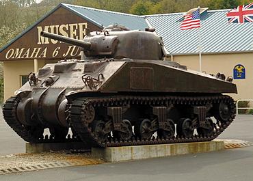 American Sherman tank, Omaha Beach Museum, Normandy, France, Europe