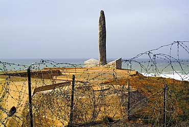 Pointe du Hoc (Le Hoc Point), site of D-Day landings in June 1944 during Second World War, Omaha Beach, Normandy, France, Europe