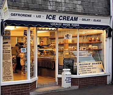 Ice cream shop, Salcombe, South Hams, Devon, England, United Kingdom, Europe