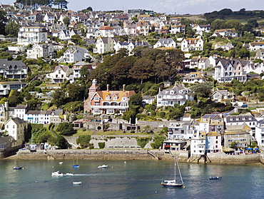 Salcombe and the Kingsbridge estuary from the village of East Portlemouth, South Hams, Devon, England, United Kingdom, Europe