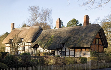 Anne Hathaway's Cottage, home of William Shakespeare's wife, Shottery, Stratford-upon-Avon, Warwickshire, England, United Kingdom, Europe