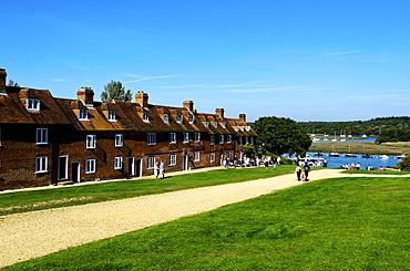 Bucklers Hard, maritime village theme park, alongside the Beaulieu River, Hampshire, England, United Kingdom, Europe