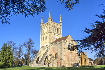 Pershore Abbey, a Church of England parish church, Pershore, Worcestershire, England, United Kingdom, Europe