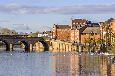 The River Severn, Worcester, Worcestershire, England, United Kingdom, Europe