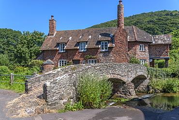 Packhorse bridge, Bossington, Somerset, England, United Kingdom, Europe