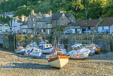 Porlock Weir, North Somerset coast, Somerset, England, United Kingdom, Europe