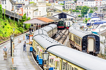Dartmouth and Paignton Railway, Kingswear Station, Dartmouth, Devon, England, United Kingdom, Europe