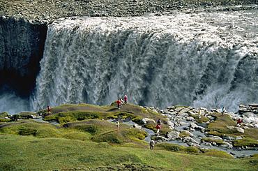 Dettifoss, Europe's largest waterfall on Jokulsa a Fjollum River, Iceland, Polar Regions
