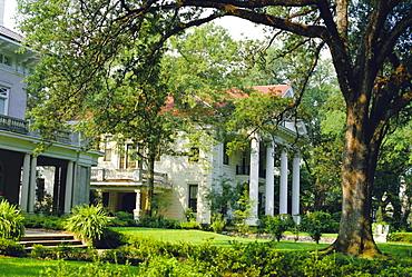 Suburban house in antibellum style of architecture, Mobile, Alabama, USA