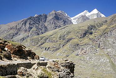Rothang pass into Chenab valley on Manali-Leh highway, Himachai Pradesh, India