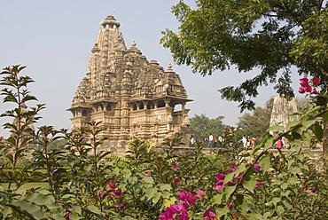 Lakshmana Temple, Chandela temple dedicated to Vishnu, within Western Group, Khajuraho, UNESCO World Heritage Site, Madhya Pradesh state, India, Asia