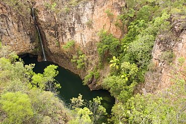 Tolmer Falls with deep plunge pool, Litchfield National Park, near Darwin, Northern Territory, Australia, Pacific
