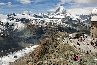 Gornegrat and Matterhorn, above Zermatt, Valais, Swiss Alps, Switzerland, Europe