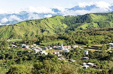 Village of Salati on Zaruma to El Cisne road, in southern highlands, Ecuador, South America