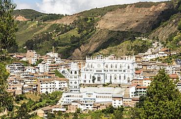 El Santuario de la Virgen del Cisne, in village of El Cisne, near Loja, Southern Highlands, Ecuador, South America