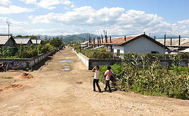 Residential area at Yongbun, near Chongjin, Hamgyong Province, North Korea, Asia