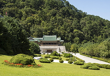International Friendship Exhibition, built inside mountain as nuclear bunker, at Myohyang, North Korea, Asia