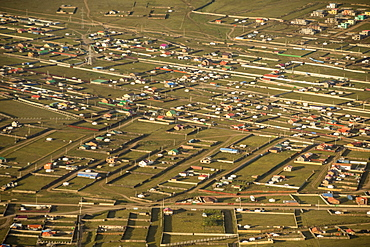 Urban sprawl, ger suburbs of Ulaanbaata, Mongolia, Asia