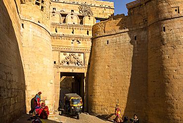 Jaisalmer Fort entrance, Jaisalmer, Rajasthan, India, Asia