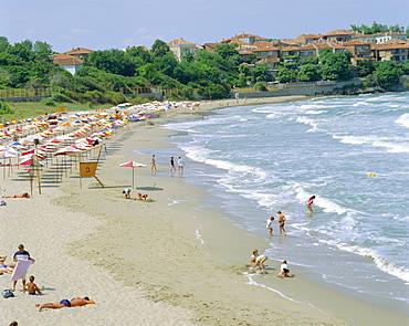 Black sea resort, Sozopol Beach, Bulgaria