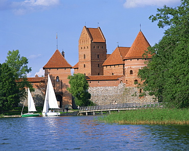 Trakai Castle in Lithuania, Baltic States, Europe